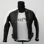 Motorcycle leather jacket MLJW-03